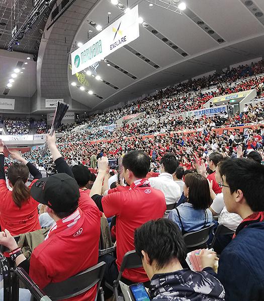 2018-19大阪エヴェッサ最終戦 (1)舞洲アリーナブースターエリア(コートエンド)1