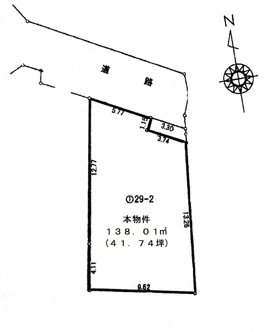 五香西三丁目区画図