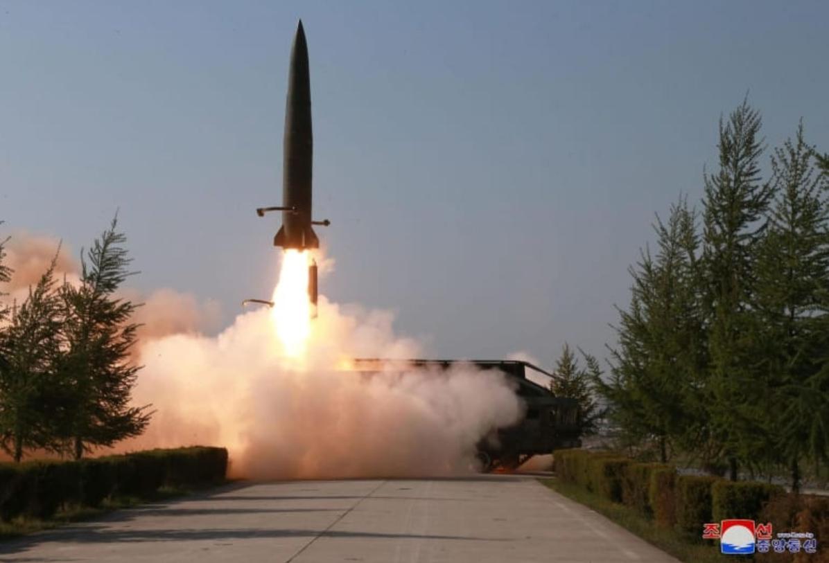 北朝鮮が5月9日に発射した短距離弾道ミサイル