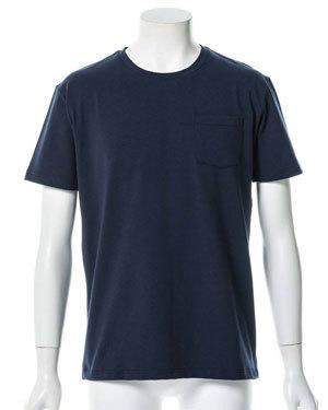 汗染み防止加工 半袖ポケットTシャツ メンズ1
