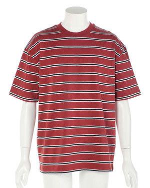 2019年 夏 メンズファッション 半袖ボーダーTシャツ4