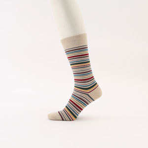 メンズソックス 靴下 マルチボーダー アウトドア