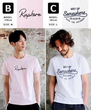 2019春夏メンズファッション 半袖プリントTシャツ3
