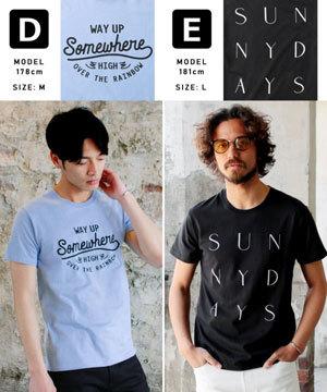 2019春夏メンズファッション 半袖プリントTシャツ4