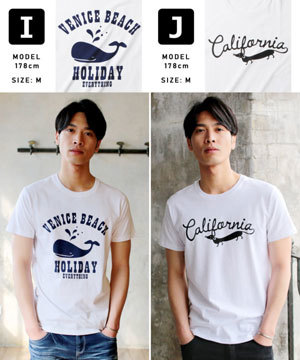 2019春夏メンズファッション 半袖プリントTシャツ7
