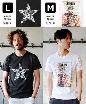 2019春夏メンズファッション 半袖プリントTシャツ9