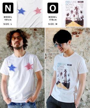 2019春夏メンズファッション 半袖プリントTシャツ10