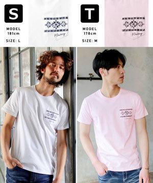 2019春夏メンズファッション 半袖プリントTシャツ13