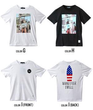 2019夏半袖プリントTシャツ メンズ 14種類例2