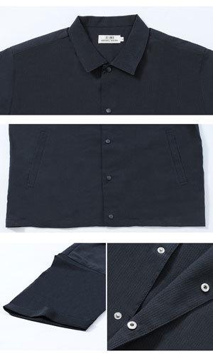 シアサッカーコーチジャケット 五分袖 メンズファッション2019