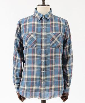 ユーズドライクチェックシャツ 大人カジュアル 30代 40代 1