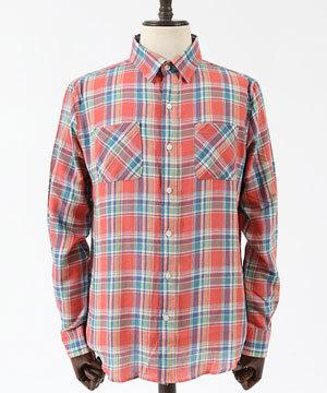 ユーズドライクチェックシャツ 大人カジュアル 30代 40代 2
