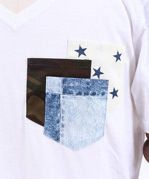 2019夏 メンズ半袖ポケットTシャツ 30代ファッション1