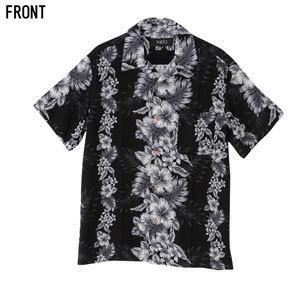 半袖オープンカラーシャツ 花柄