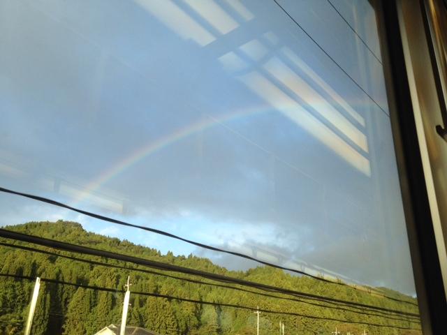 今日の遭遇虹