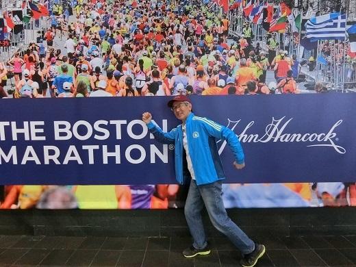 ボストンマラソンエキスポにて