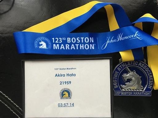 ボストンマラソン記録メダル