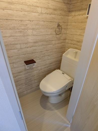 尻手新築アパート301トイレ