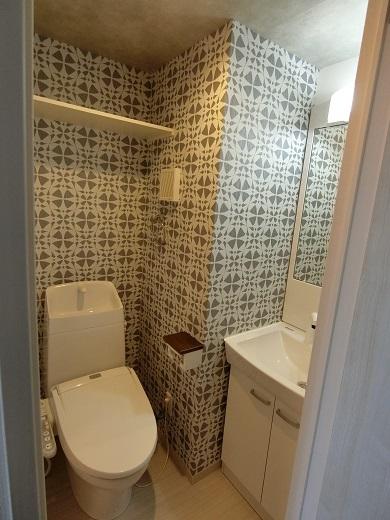 尻手新築アパート303号室トイレ洗面