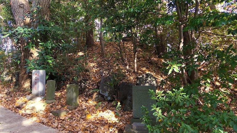 「馬絹神社の富士塚」