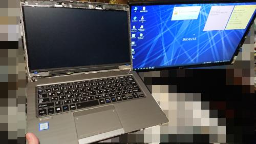 Dynabook R63 FHDパネル映らず