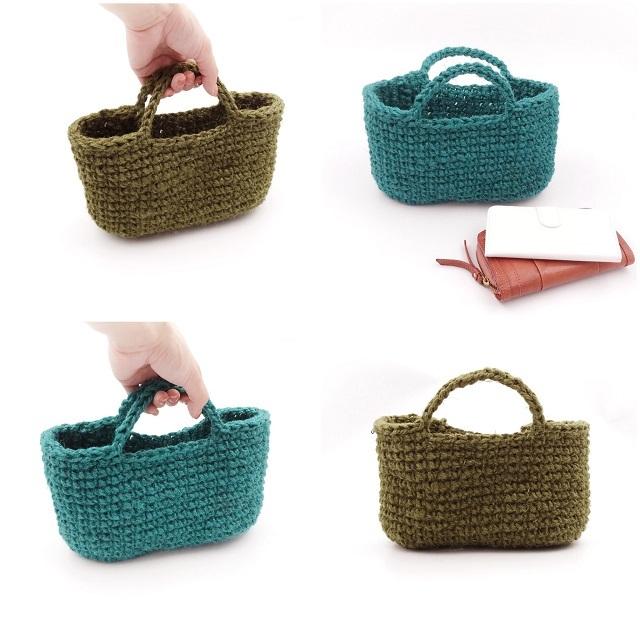 手編み雑貨 HanahanD 麻バッグ かごバッグ 編みかご ハンドバッグ 夏のおでかけ インテリア
