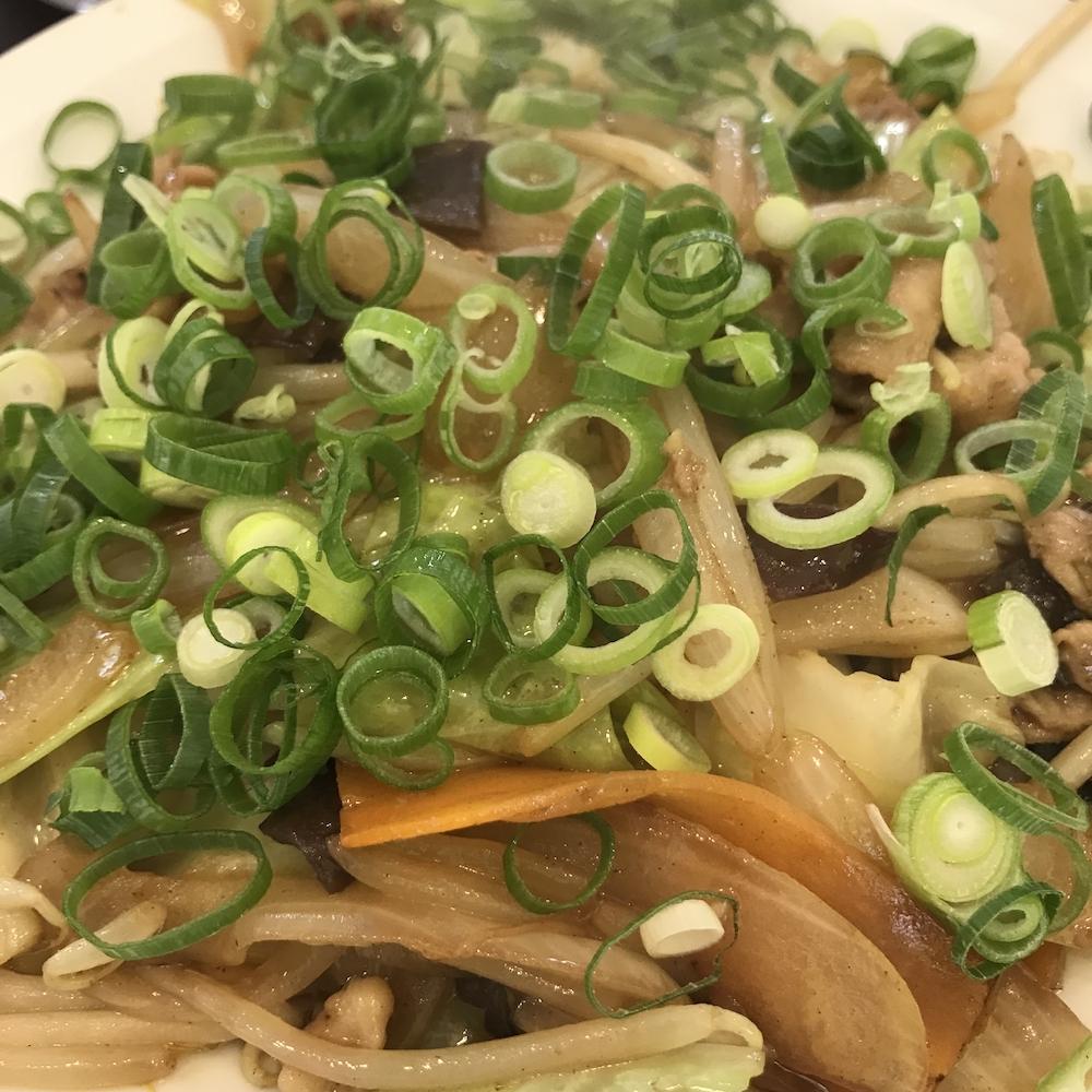 風びに野菜炒め定食