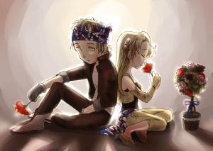 バラとバンダナ