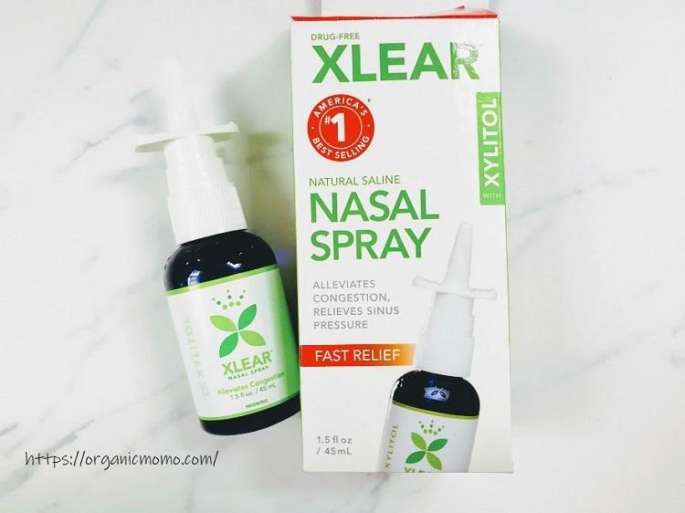 Xlear,キシリトールサイナスケアスプレーのパッケージと商品3