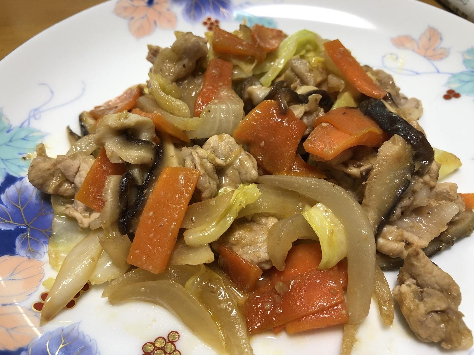 野菜の黒豆味噌炒め1 - コピー
