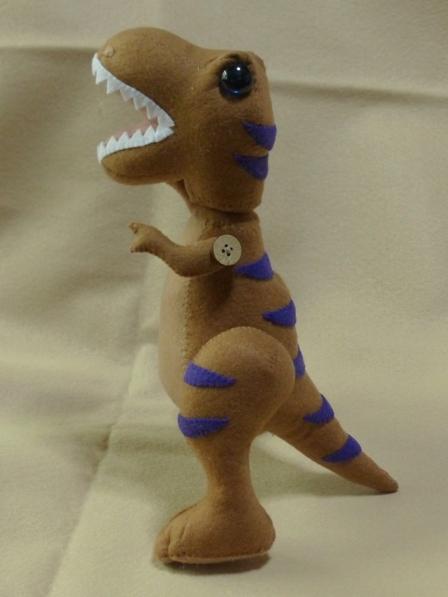 フェルトの恐竜 ティラノサウルス 1