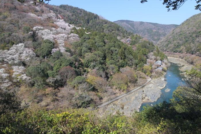 嵐山公園から桂川(大堰川)を望む
