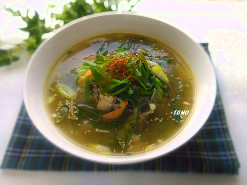 キムチの素で牛肉のスープ