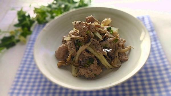 セロリと豚肉の黒コショウ炒め