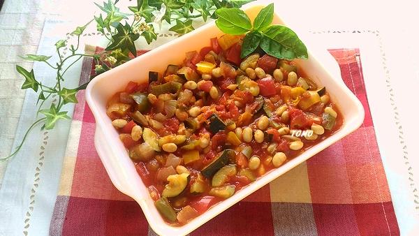 大豆の水煮のラタトゥイユ風