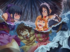 【画像あり】くノ一、JK、姫、メイドさんが溺れています・・・