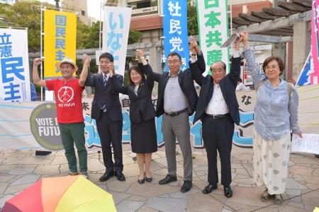 Shiminrengo FUKUOKA speech at OhashiStation_20190601-4
