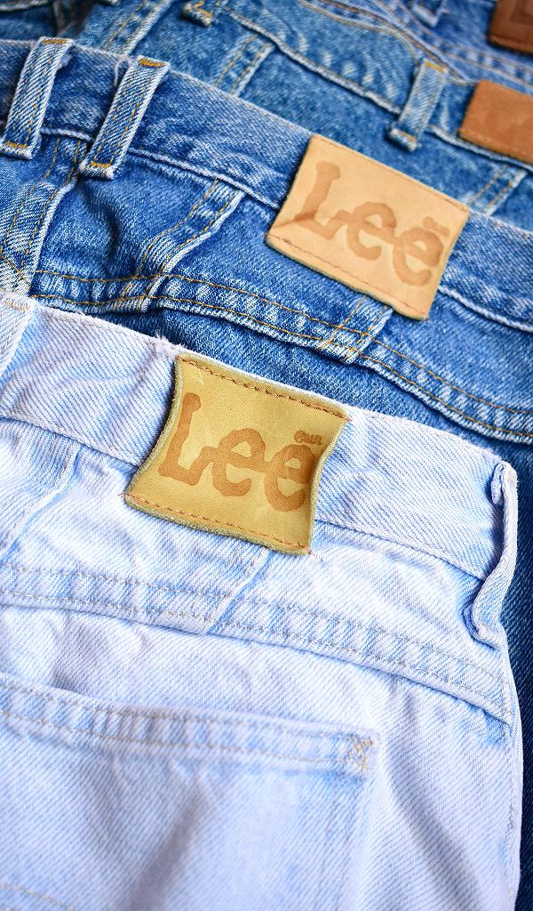 リーLEEテーパードスリムジーンズ画像デニムパンツUSEDメンズレディースコーデ@古着屋カチカチ