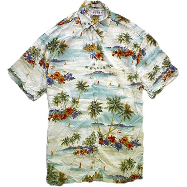 アロハシャツHawaiianShirtsハワイアン柄シャツ画像メンズレディースコーデ@古着屋カチカチ