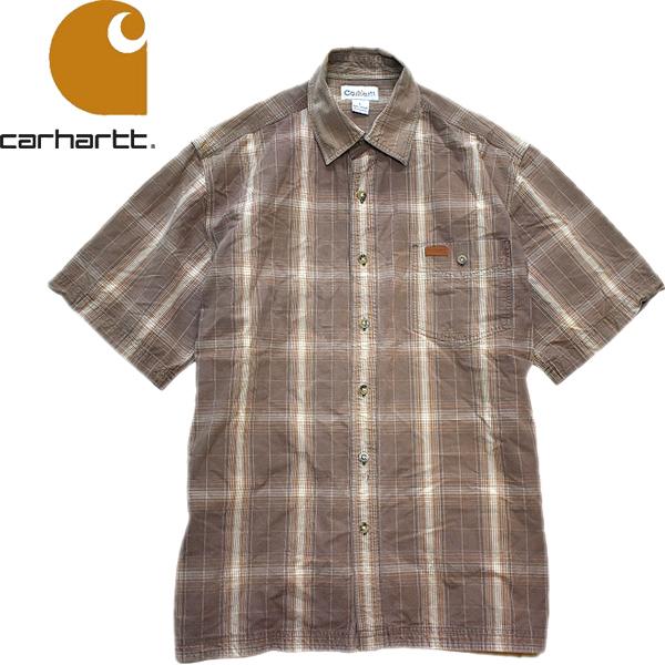 カーハートCarhartt半袖ワークシャツ画像メンズレディーススタイルコーデ@古着屋カチカチ