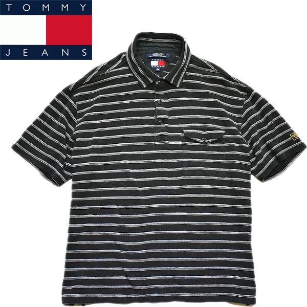 トミーヒルフィガーTOMMY半袖ポロシャツ画像メンズレディーススタイルコーデ90sファッション@古着屋カチカチ