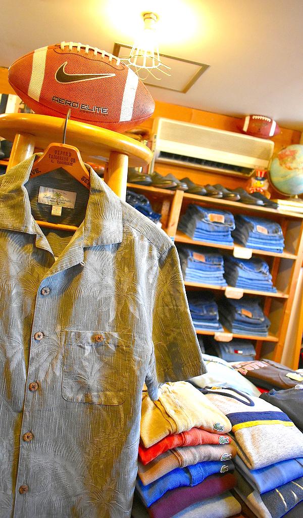アロハシャツ半袖ハワイアンシャツUSEDリゾートMixメンズレディーススタイルコーデ@古着屋カチカチ
