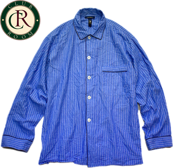 パジャマシャツ画像ボックスシャツ開襟カンフーシャツコーデ@古着屋カチカチ