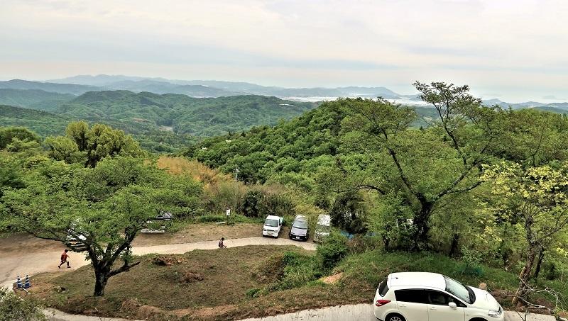 摩訶衍寺から望む瀬戸内海の眺望