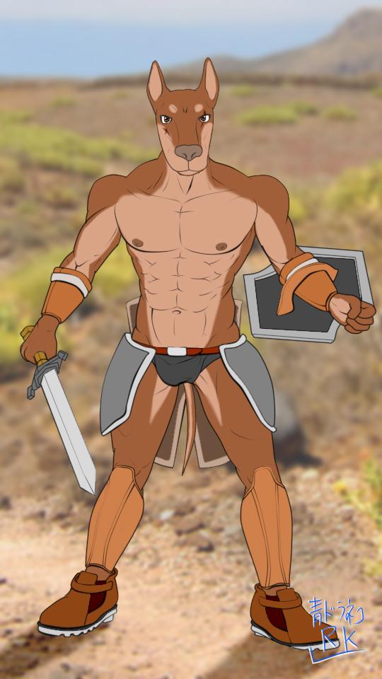鎧剣士マッチョドーベルベタ塗り鎧なし