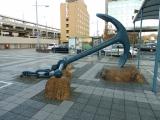 JR相生駅 錨のモニュメント