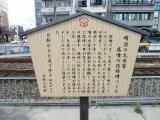 えちぜん鉄道福大前西福井駅 底喰川改修記念碑 説明