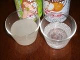 梨チューハイ2種類比較 色比較