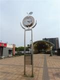 北総鉄道白井駅 梨の時計台