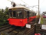 銚子電鉄外川駅 デハ800形801号